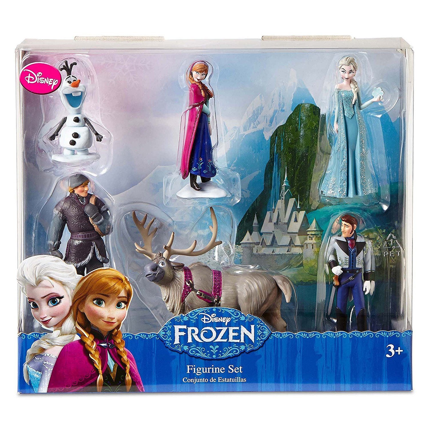 bef9e325e1f8 Buy Disney Frozen 6 pc Figurine Figure Set Sven Hans Anna Elsa Kristoff and  Olaf Online at Low Prices in India - Amazon.in