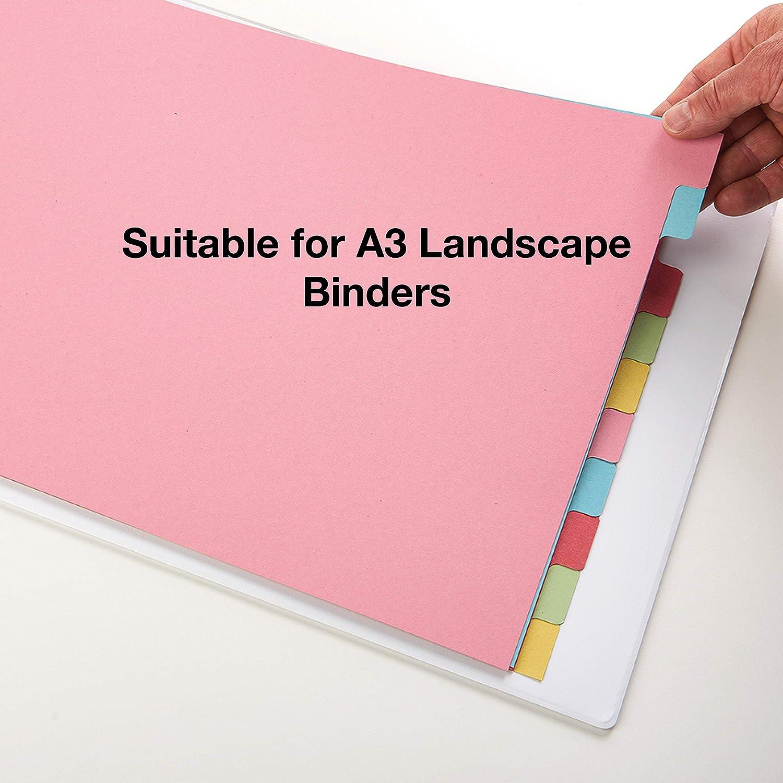 Elba - Separadores para archivador (10 partes, A3), multicolor: Amazon.es: Oficina y papelería