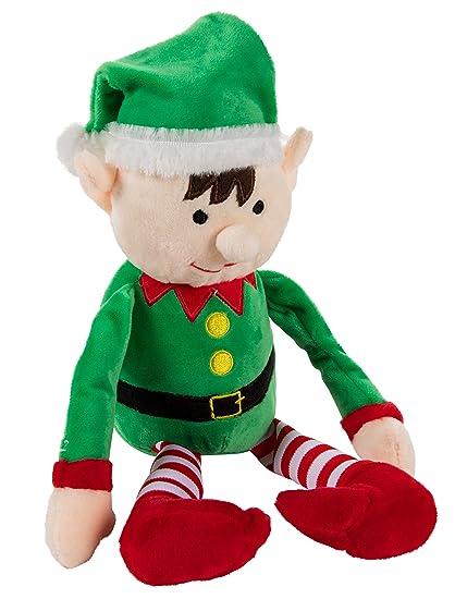 Amazon Com Christmas Elf Plush Toy Mas The Elf Little Santa