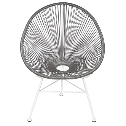 Acapulco Lounge Chair   Grey On White