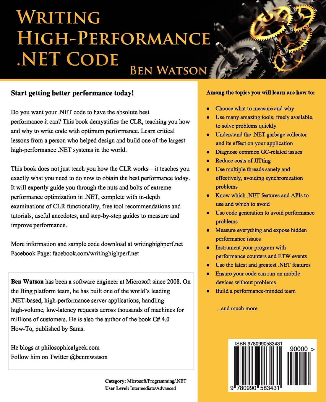Writing .net high-performance code download ebook