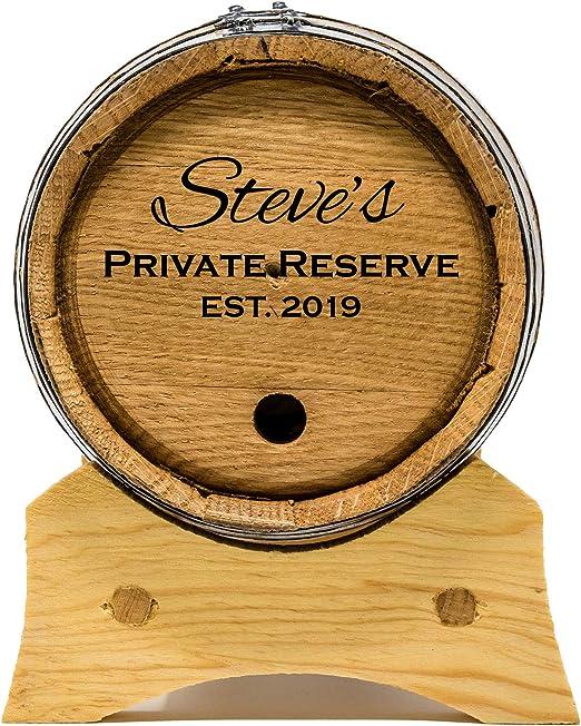 Red Head Barrels Grabado Personalizado 1 Litro barriles de Roble para el envejecimiento del Whisky, Ron, Tequila, Bourbon, Whisky y Vino (1 litro)