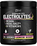 Electrolyte Powder w Real Salt +BCAAs +B-Vitamins (90 Servings | Lemon Berry) Sugar Free Electrolyte Supplement w…