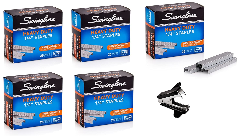 Swingline Staples, Heavy Duty, 90-Sheet Capacity, 1/2 Length, 100/Strip, 1000/Box, 1 Box (35312) 1/2 Length ACCO Brands