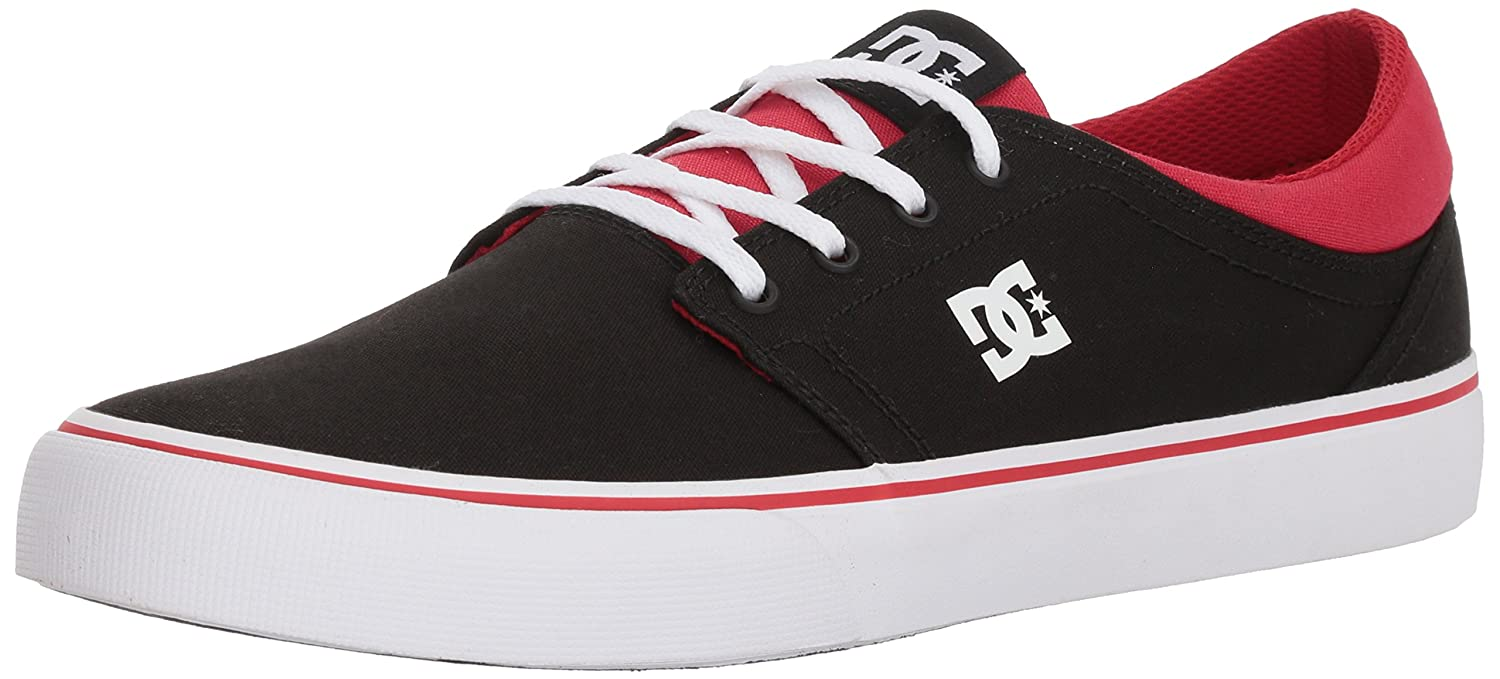 DC Men's Trase TX Unisex Skate Shoe B075984V4N 12 D D US|Black/Athletic Red/Black