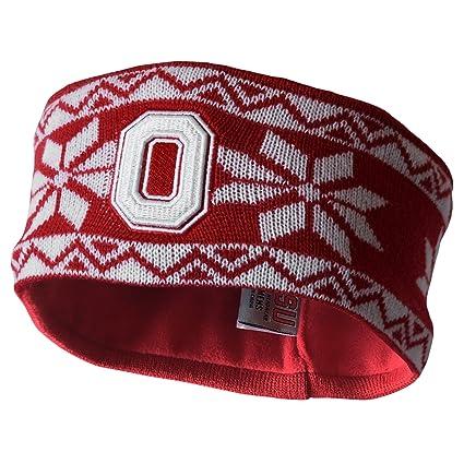 sports shoes c6d9b d36a6 J America NCAA Ohio State Buckeyes Adult Women Cheer Women s Knit Headband, One  Size,