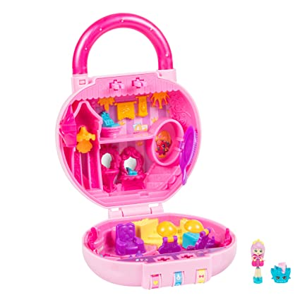 4b19c3ac75b Amazon.com  Shopkins Lil  Secrets Mini Playset - Princess Hair Salon  Toys    Games