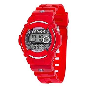 FC Bayern Múnich Reloj digital kids Reloj de pulsera FCB Watch Ver regarder: Amazon.es: Deportes y aire libre