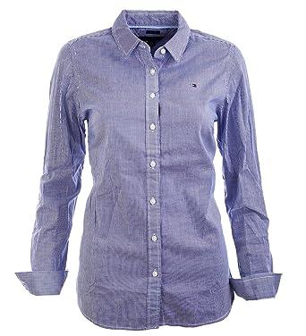 Tommy Hilfiger Damen Bluse Business Hemd Damenbluse weiß blau gestreift  Größe XS eec3d7106c