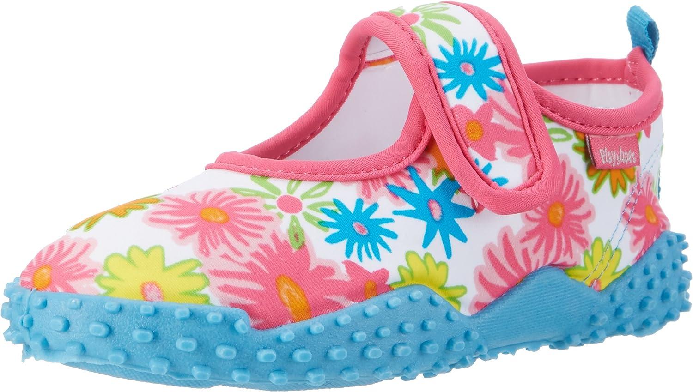 Playshoes Unisex-Kinder Badeschuhe Blumenmeer mit Uv-Schutz Aqua Schuhe