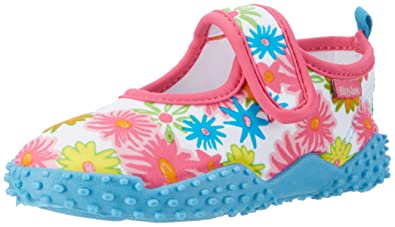 bf2512d63 Playshoes GmbH Girls' UV Protection Aqua Shoes Allover Flowers Water  (Pink), 10.5