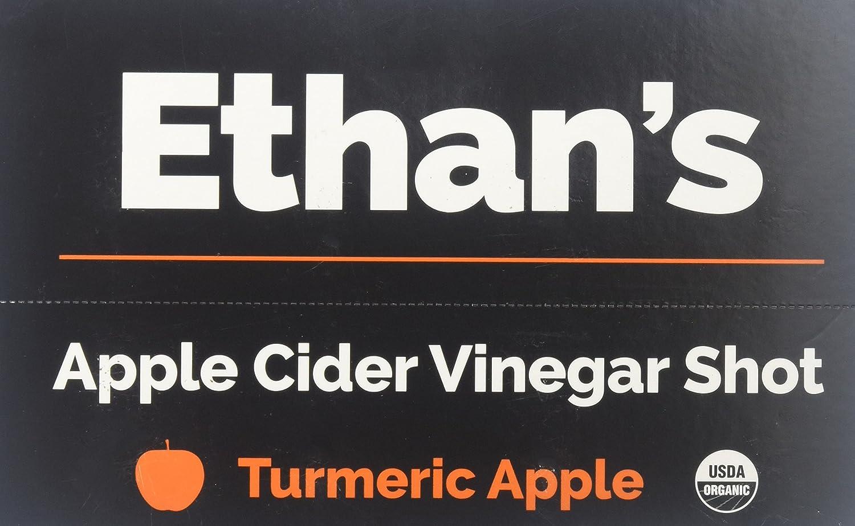 Ethan s Apple Cider Vinegar Shots, Turmeric Apple Pack of 12