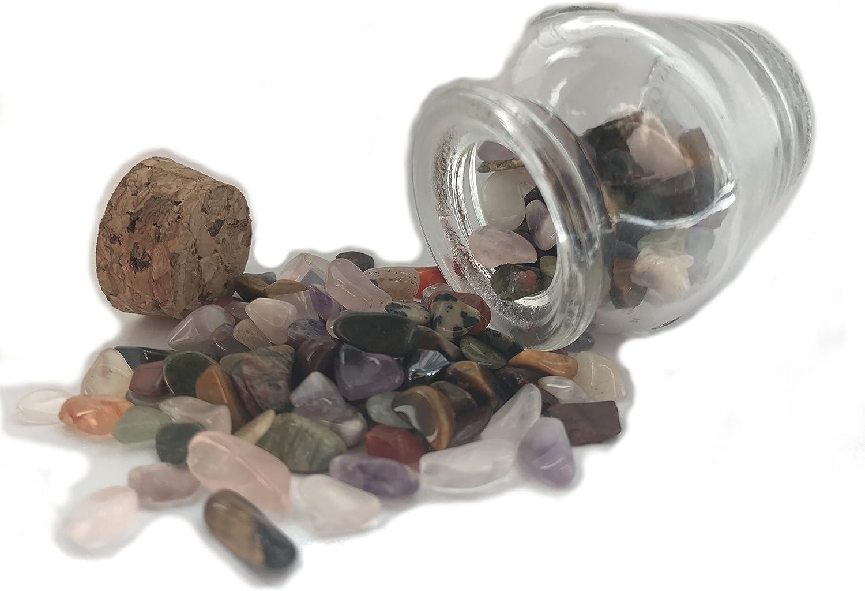 Mini biberones de piedras preciosas | Set de regalo piedras preciosas | aprox. 60gr. piedras preciosas