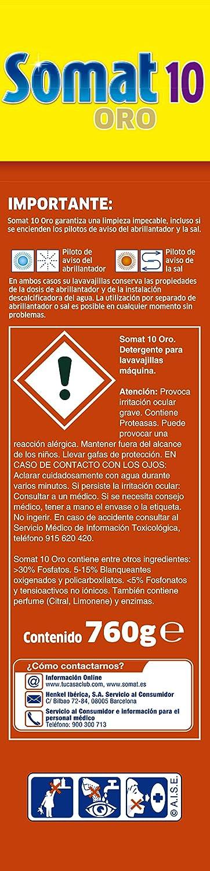 Somat Oro Detergente Limpia Vajillas Máquina - 40 Pastillas: Amazon.es: Amazon Pantry