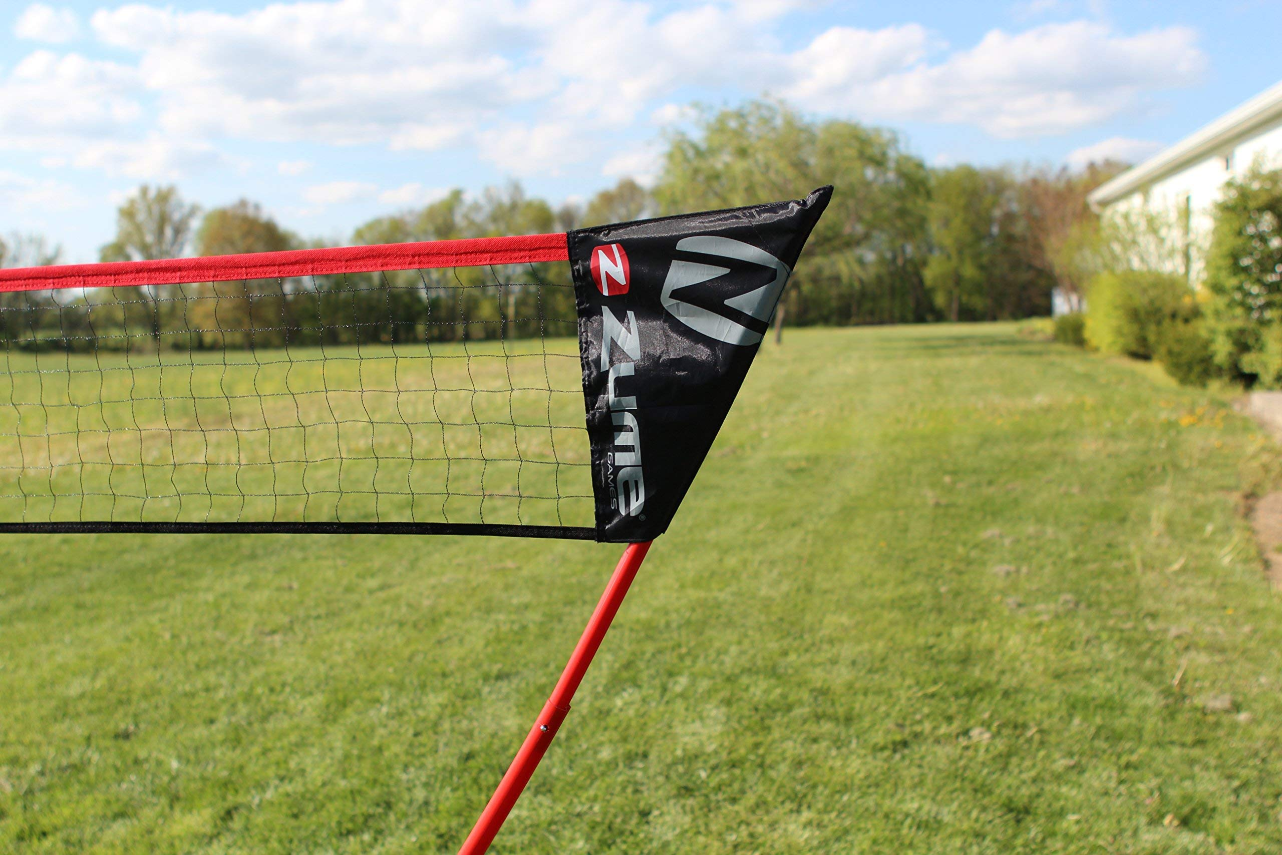 Zume Games Portable Badminton Set with Freestanding Base - Sets Up on Any Surface in Seconds - No Tools or Stakes Required (Renewed) by Zume (Image #9)