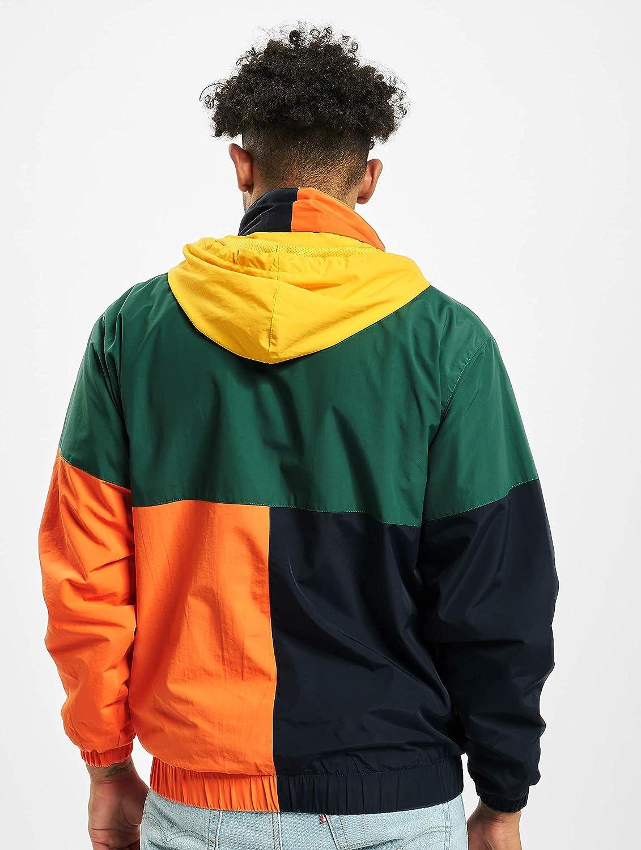 Azul Color Verde Naranja y Amarillo Karl Kani Retro Block Cortavientos