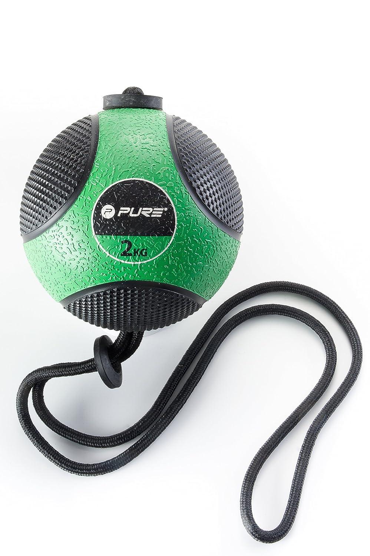 Pure2Improve p2i110070 balón de Ejercicio con Cuerda Unisex, Verde ...