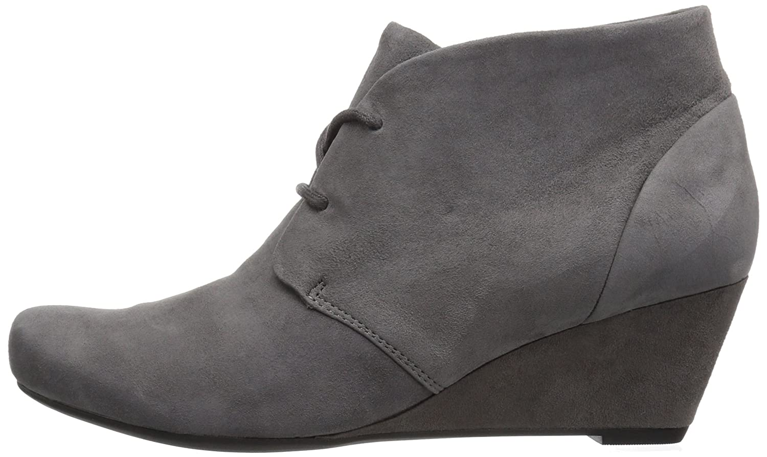 CLARKS Women's Flores Rose Ankle Bootie B01N5ESGBN 9 B(M) US|Grey Suede