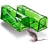 Trazon Humane Mouse Traps Catch and Release That Work - Mouse Traps No Kill - Live Mouse Traps - Reusable Mouse Traps for Hou