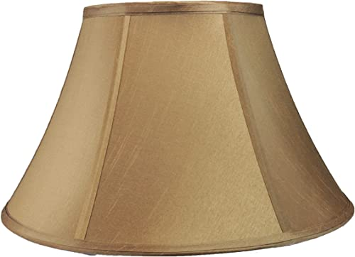 Urbanest Softback Bell Lamp Shade, Faux Silk, 6-inch by 12-inch by 8-inch, Spider-Fitter, Taupe