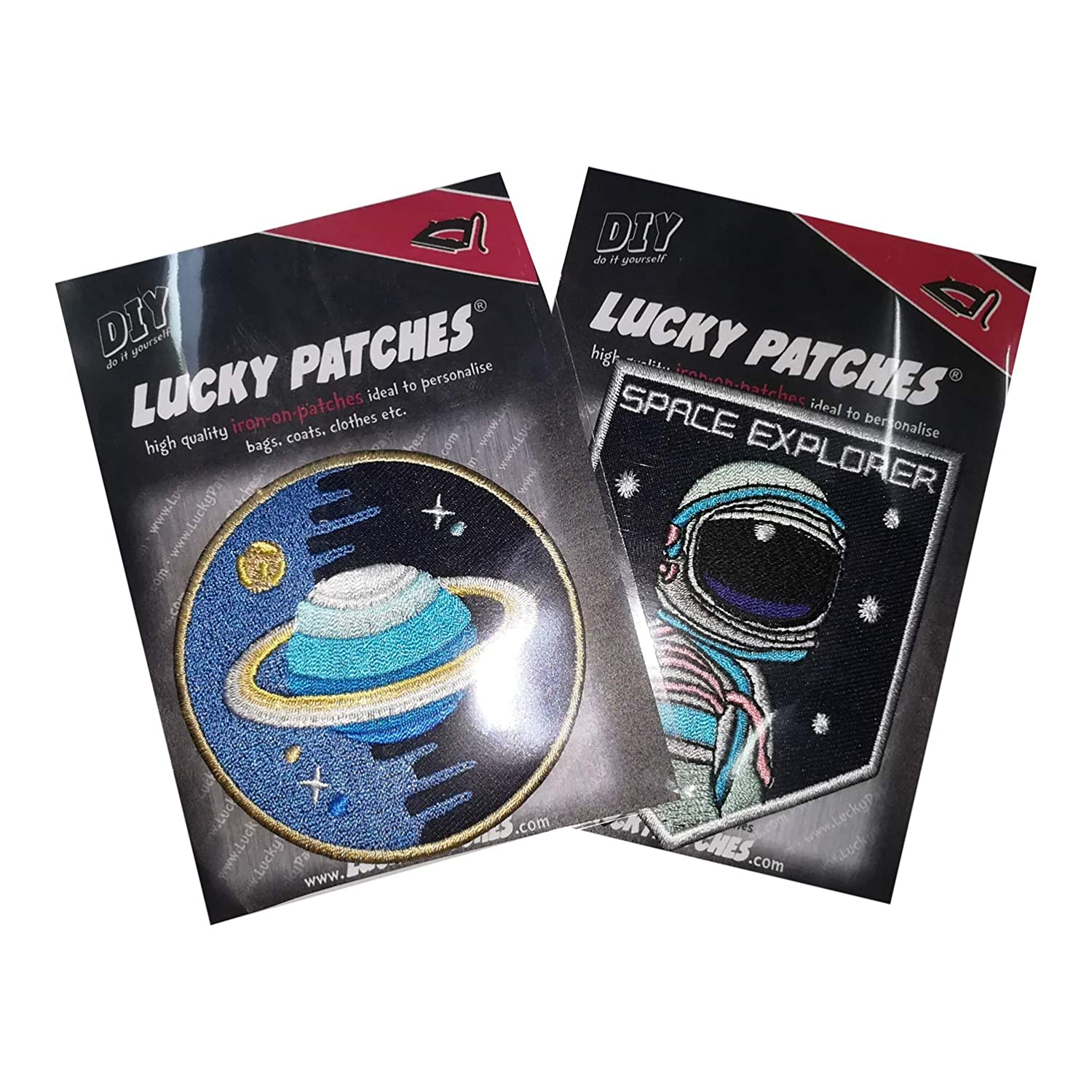 Iron-on Clothes Patch Space Explorer  Round