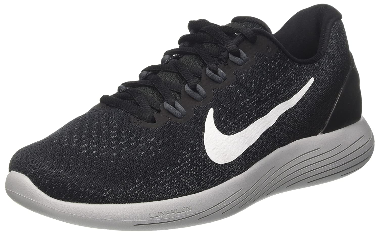 179b7b22207f44 Nike Men s Lunarglide 9 Running Shoe Black White Dark Grey Wolf Grey Size 7.  5 M US  Buy Online at Low Prices in India - Amazon.in