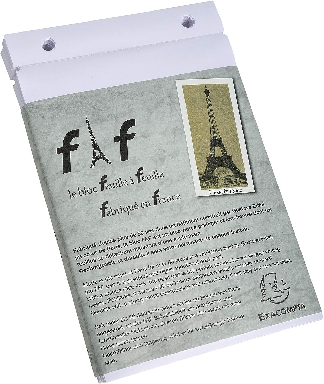 Exacompta 12233E FAF N/°3 Boite de 5 Recharges R/églure 18,5 X 11,5 cm 5 X 5