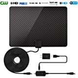 [2018 Newest] TV Antenna for Digital TV Indoor-60-80 Miles Range