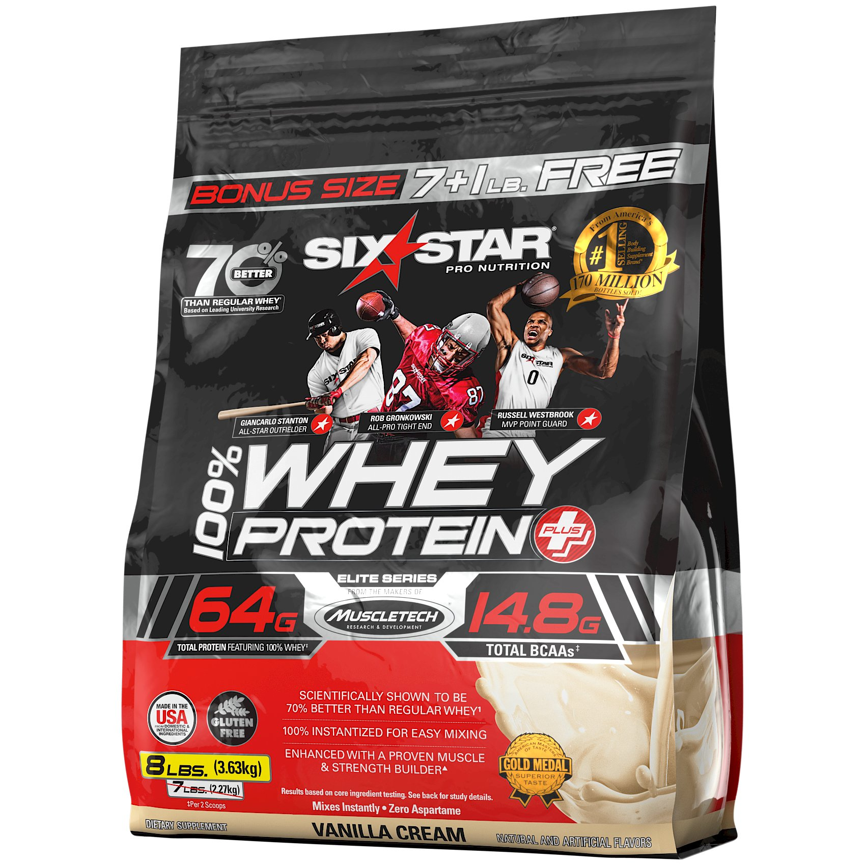 Six Star Pro Nutrition Whey Protein Plus, 8 Pound
