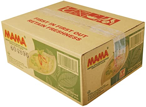 Amazon.com : Mama Ramen Instant Noodles Green Curry Flavor (90g - 3.17oz) - Jumbo Pack of 20 : Grocery & Gourmet Food