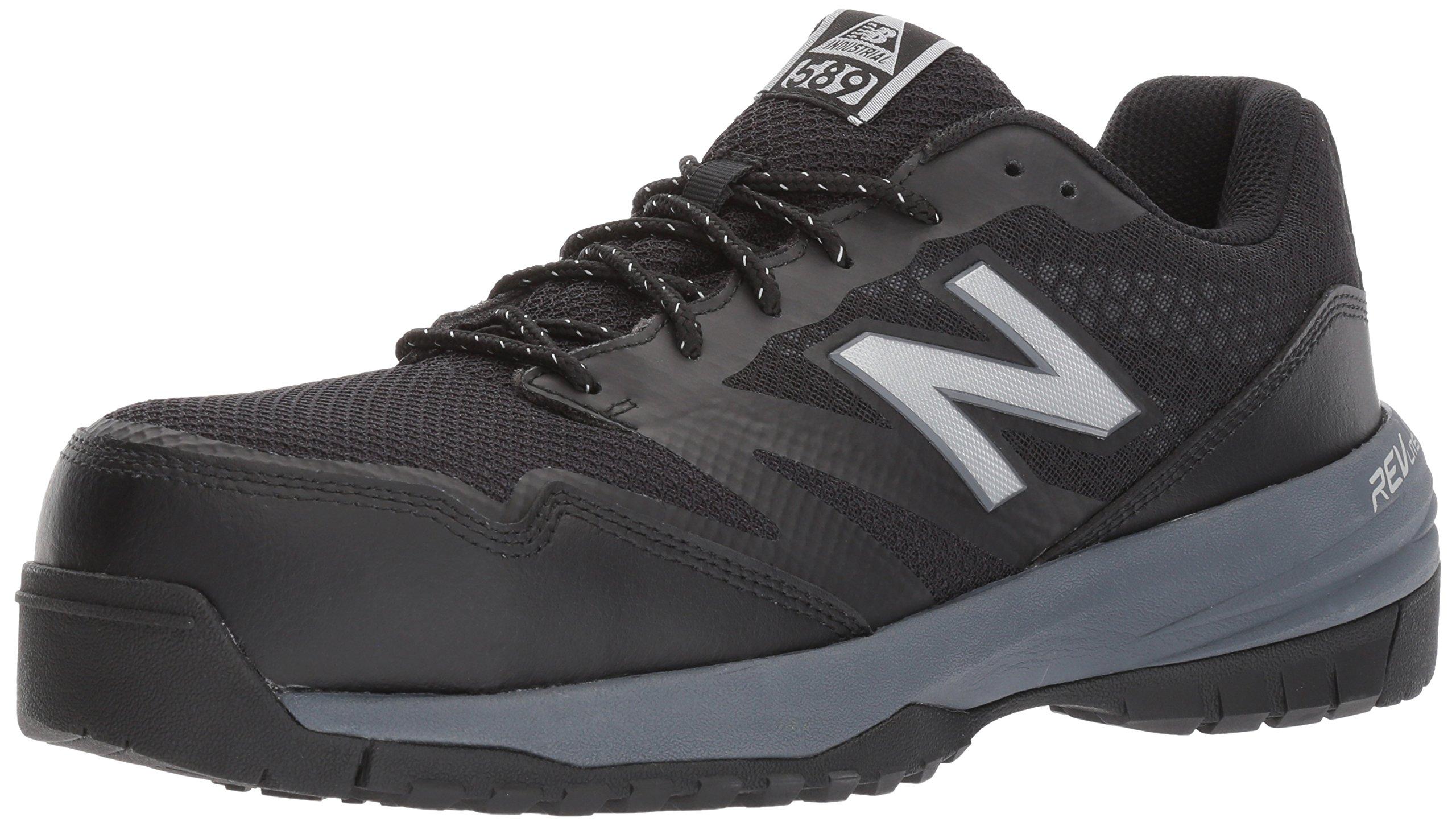 New Balance Men's 589V1 Work Training Shoe, Black/Grey, 10.5 4E US