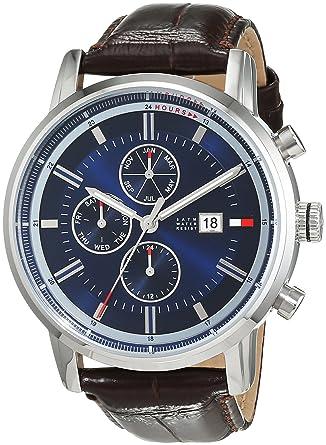 Reloj para hombre Tommy Hilfiger 1791244, mecanismo de cuarzo, diseño con varias esferas, correa de piel.: Amazon.es: Relojes