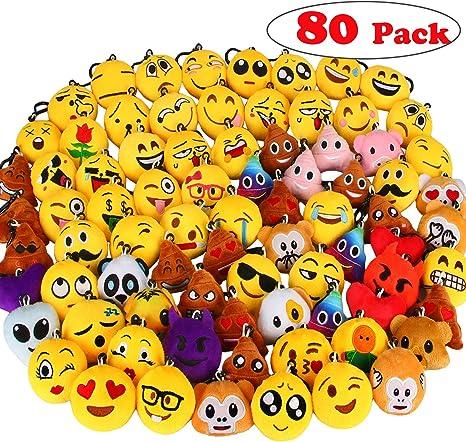 Amazon.com: Llaveros emoji, de Dreampark, para fiestas ...