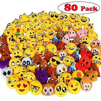 Dreampark Emoji Llavero, Emoji clave cadena mini peluche ...