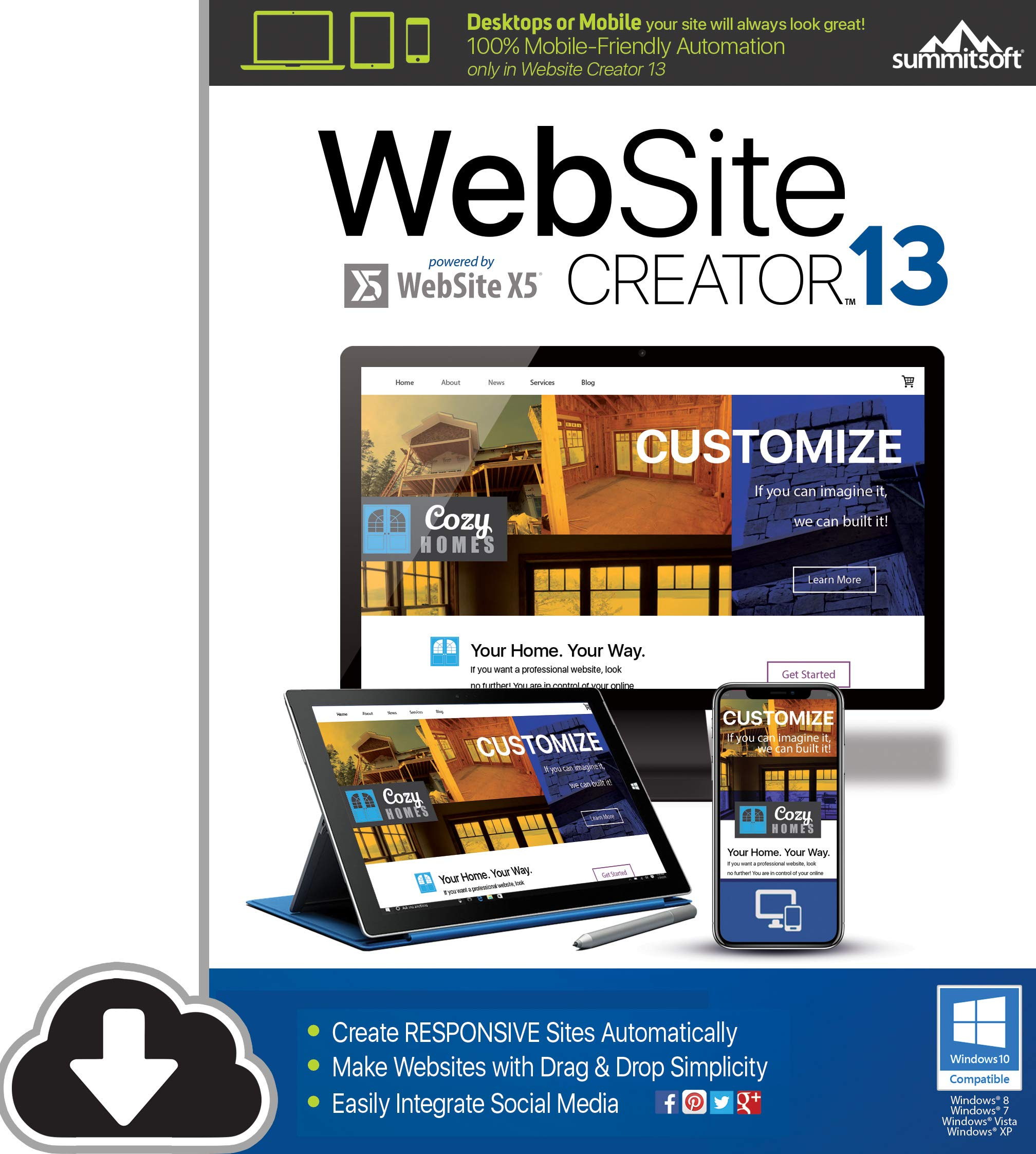 Website Creator 13 [PC Download] by Summitsoft
