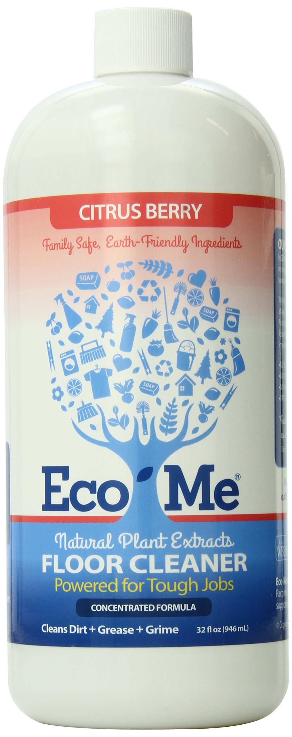 Eco-Me Natural Multi-Surface Floor Cleaner, Citrus Berry, 32 Fluid Ounce