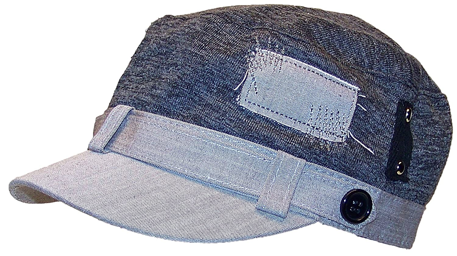 David & Young Womens Elastafit Cadet Hat W/Sewn Patches & Strap (One Size)