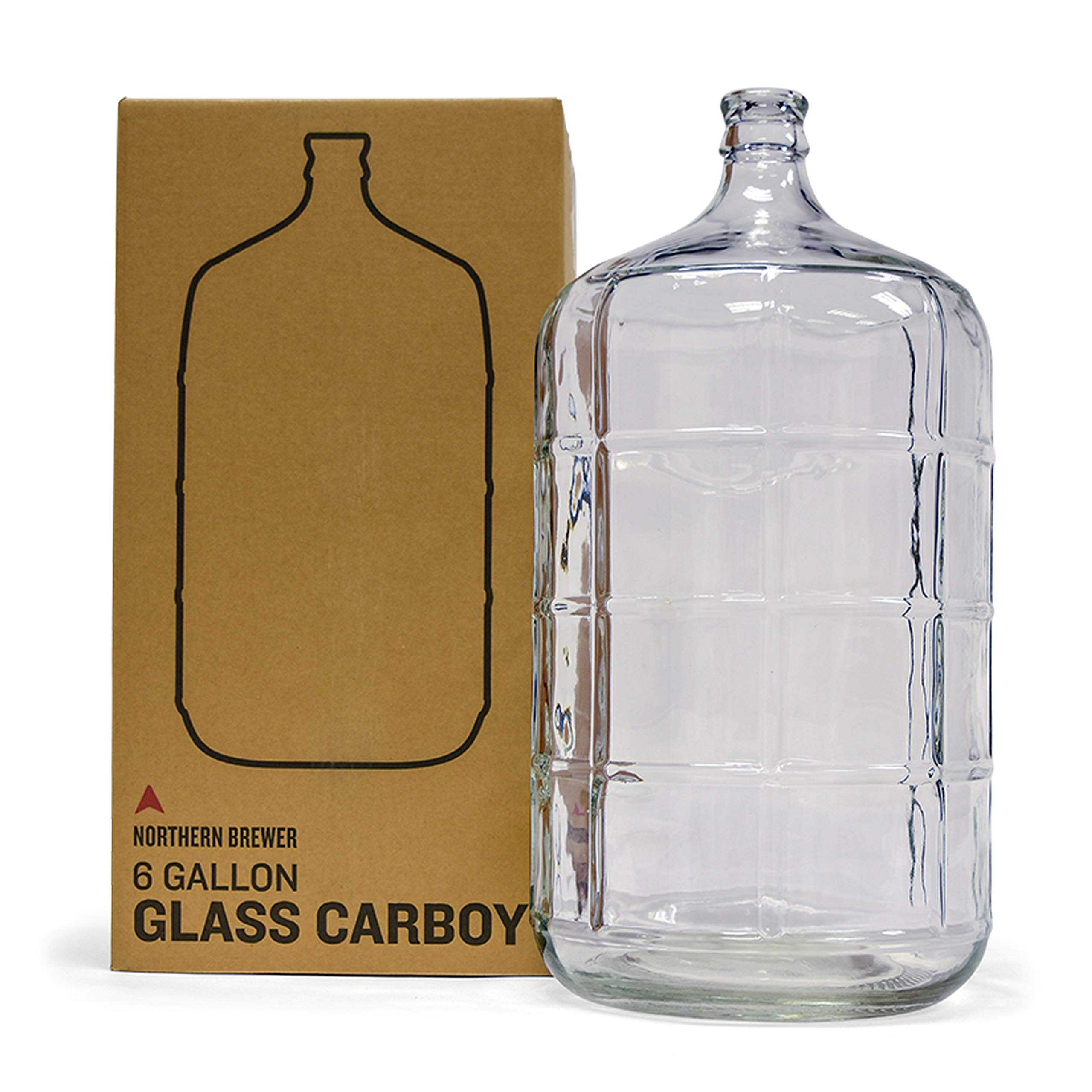 Northern Brewer - 6 Gallons Glass Carboy Fermenter For Fermentation Of Homebrew Beer Brewing, Wine Making, Mead And Hard Cider