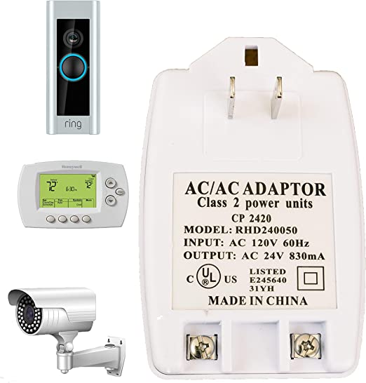 24vac Transformer C Wire 24 Volt Transformer Compatible with Ring Doorbell on doorbell security, doorbell chimes, doorbell installation, doorbell parts, doorbell battery, doorbell relay, doorbell repair, doorbell sound, doorbell covers, doorbell switch, doorbell buttons, doorbell wire,
