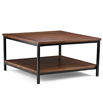 Simpli Home Skyler Square Coffee Table  Dark Cognac Brown. Amazon com  Simpli Home Skyler Square Coffee Table  Dark Cognac