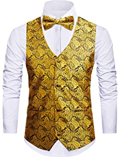 f8873c7b5136 Cyparissus Mens Vest Waistcoat Men's Suit Dress Vest for Men or Tuxedo Vest