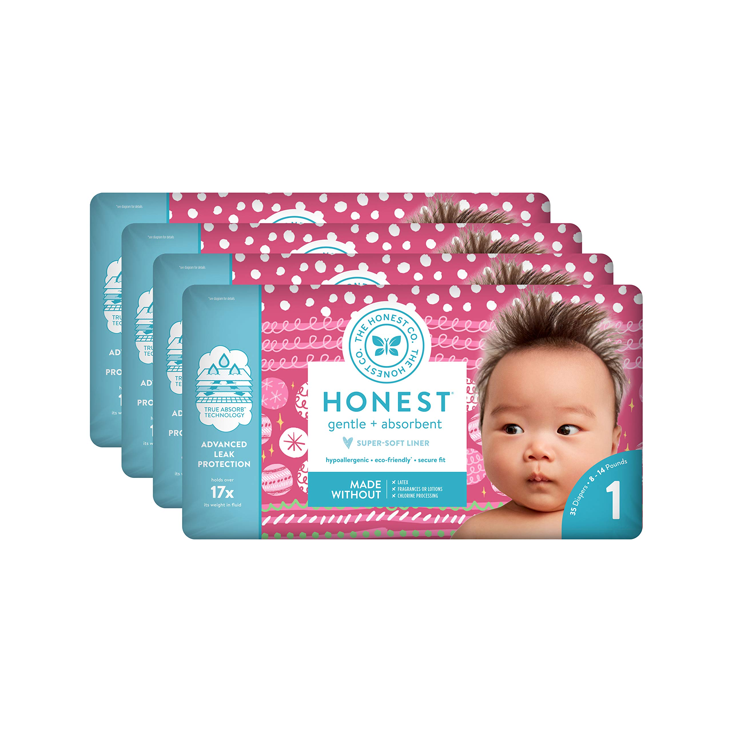 The Honest Company Baby Diapers with True Absorb