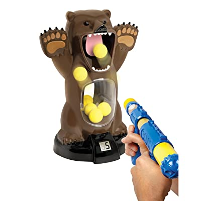 Hungry Bear Target Feeding Game with Sound: Toys & Games
