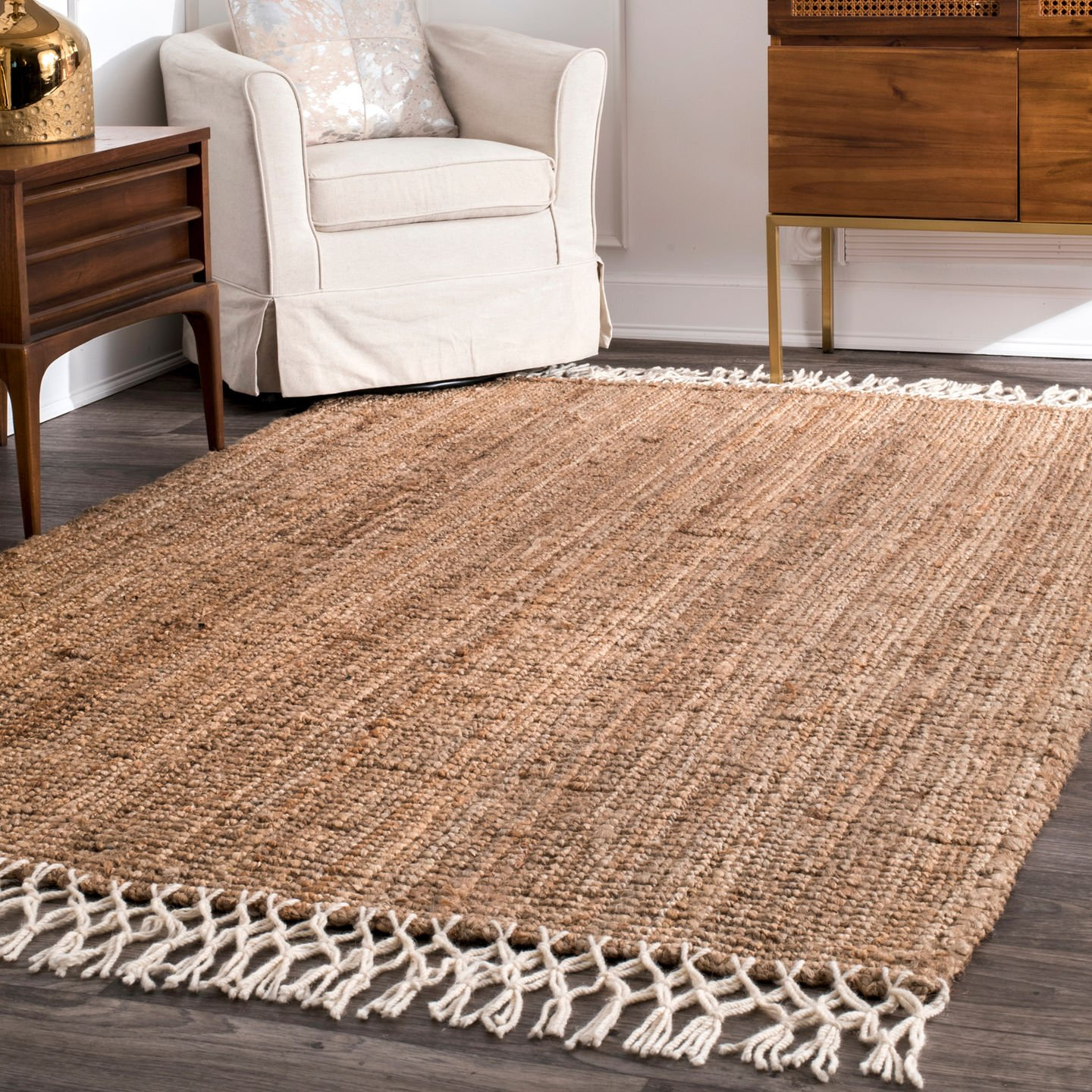 nuLOOM Raleigh Hand Woven Wool Rug, 5 x 8 , Natural
