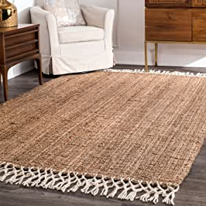 Nuloom Raleigh Hand Woven Wool Area Rug 9 X 12 Natural Furniture Decor