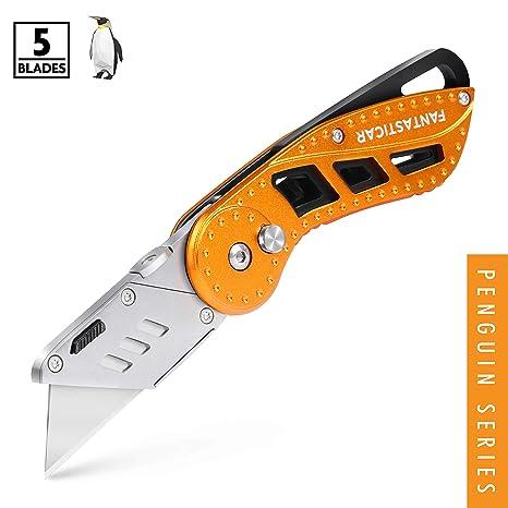 Amazon.com: FantastaiCAR - Cuchillo plegable de aluminio ...