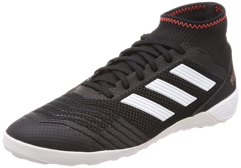 Adidas Predator Tango 18.3 In, Zapatillas de Fútbol Sala para Hombre 45 1/3 EU|Negro (Negbas / Ftwbla / Rojsol 000)