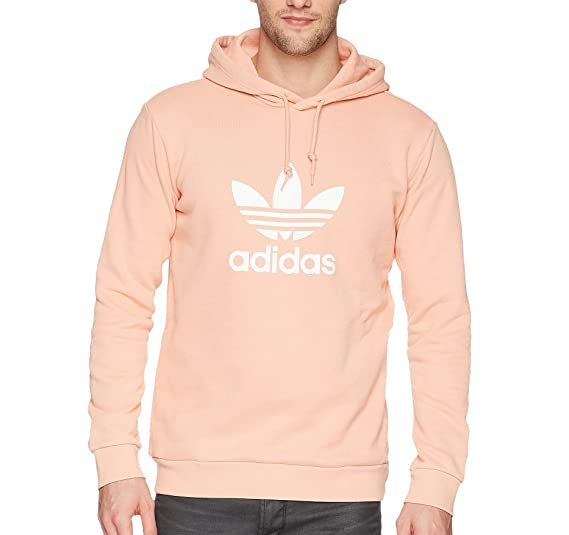 pub Secretar Confusión  adidas Originals Men's Originals Trefoil Warm-up Hoodie, Dust Pink, S:  Amazon.in: Clothing & Accessories