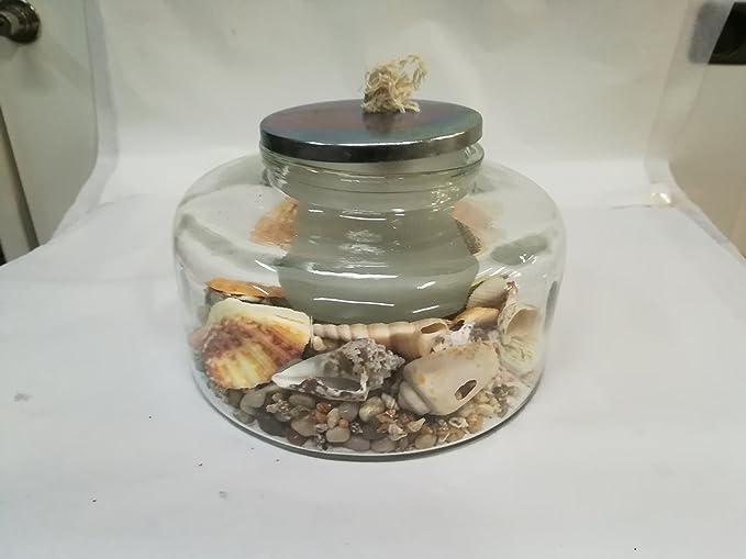 Lampade Ad Olio Per Esterni : Lampada ad olio con sabbia e conchiglie amazon illuminazione