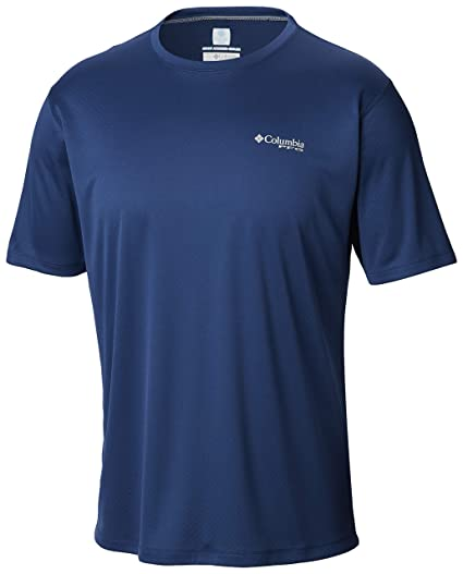 4f6ac473ad4 Columbia Men's PFG ZERO Rules Short Sleeve Shirt, Carbon, Small
